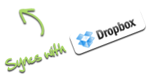Syncs with Dropbox